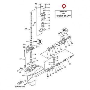 Редуктор лодочного мотора в сборе Long (длинный) 565 мм.