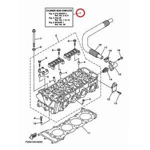Головка блока цилиндров (в сборе) Yamaha 1800