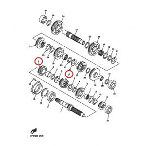 Шестерни 3 и 4 передачи для Yamaha FJR1300 (комплект)