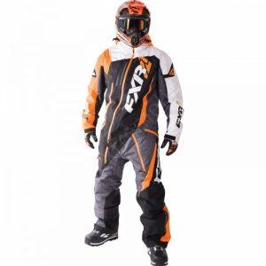 Мужской комбинезон FXR Maverick Black/Charcoal/White Weave/Orange