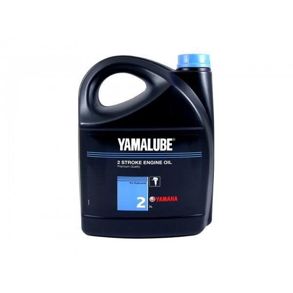 Минеральное масло Yamalube 2 для 2-тактных двигателей подвесных лодочных моторов (5 л.)