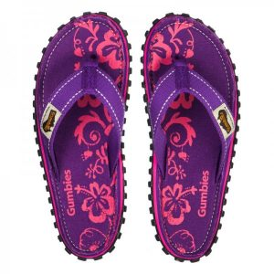 Шлепки Gumbies Purple Hibiscus